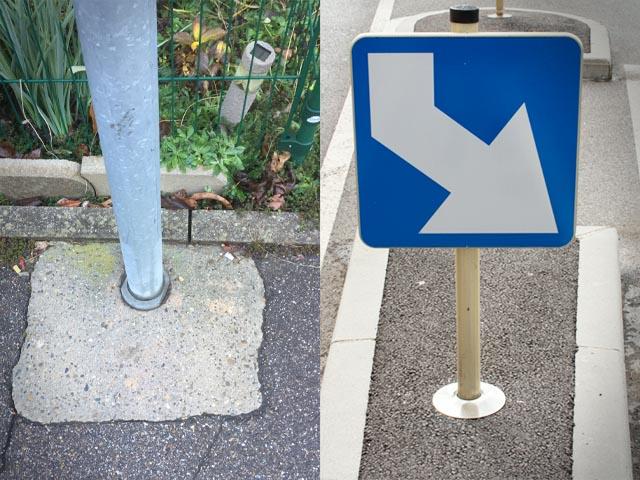 Verkehrstechnik Stadtbild Verschönerung Dank des Bodendübels Wurzelpfahl FERRADIX®