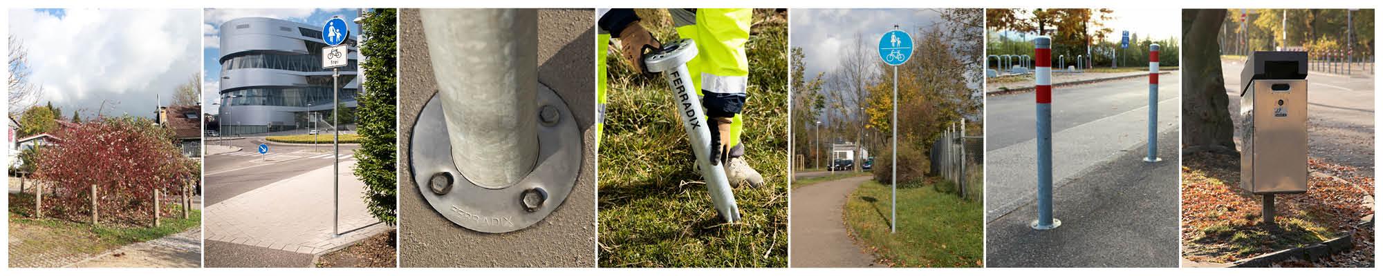 Wurzelpfahl FERRADIX® -Bodendübel aus Stahl für Naturboden, Asphalt und Beton