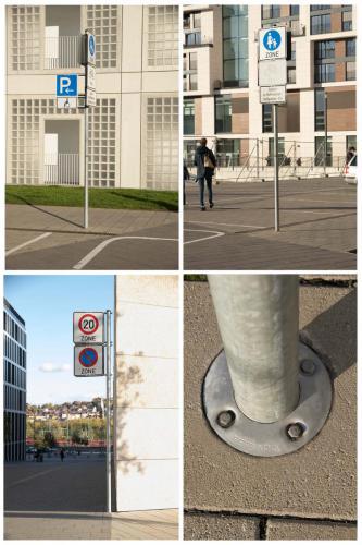 Verkehrszeichen im Pflaster