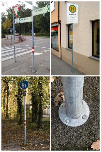 Verkehrszeichen im Asphalt